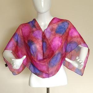Joan Lee Colorful Silk Scarf
